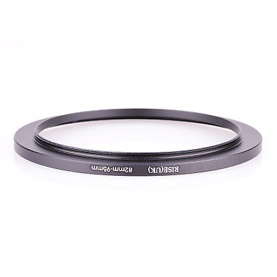 RISE(UK) 82-95MM 82 MM- 95 MM 82 to 95 Step Up Ring Filter Adapter black