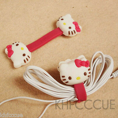 Hello Kitty Cute Head Cable Cord Winder Wrap Organizer x 2 PCS K06