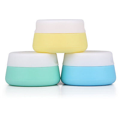 Popular Silicone Travel Cosmetic box Eyeshadow Makeup Face Cream Container AU