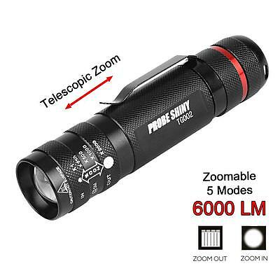 6000 LM Zoomables Mini CREE T6 LED Lampe Torche 5 Modes Super Bright Lumière ED