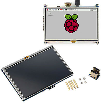 "5"" Resistive Touch Screen LCD Display HDMI for Raspberry Pi XPT2046 #S"