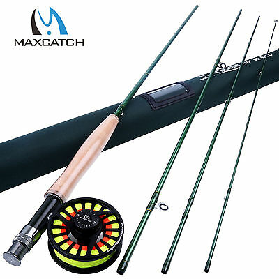 5WT Fly Fishing Combo 9FT 4SEC Fly Rod & CNC Machined Fly Reel & Fly Line
