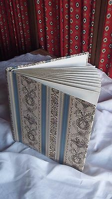 French Vintage Beautiful Silk / Satin Fabric Memory Book - Photo Album Scrapping