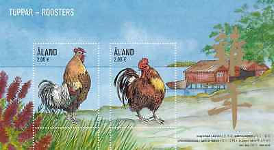 ALAND - 2016 - Miniature Sheet: Roosters. Mint NH