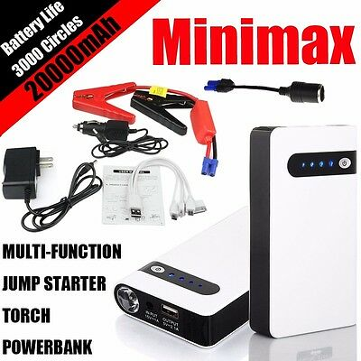 20000mAh Minimax Auto Jump Starter Portable Battery Charger Power Bank Booster