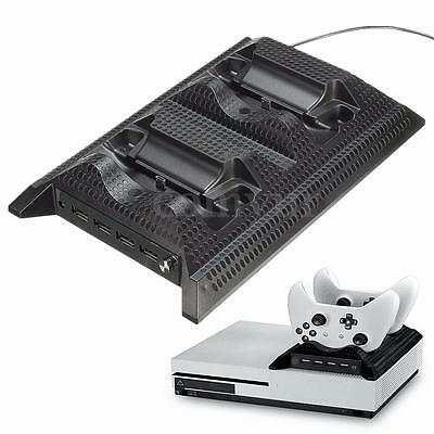 4 in 1 Dual Charger Dock Station Cooling Fan For Microsoft Xbox One S Controller