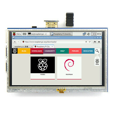 Hot 5-inch Resistive Touch Screen LCD Display HDMI for Raspberry Pi XPT2046 B9