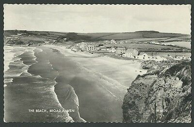 Broad Haven Pembrokeshire The Beach 1961 Real Photo Postcard