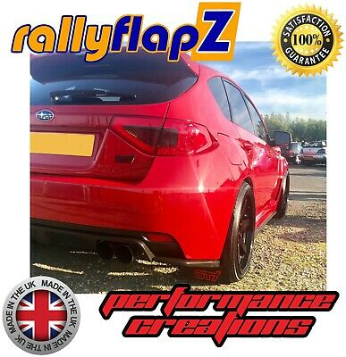 Mudflaps SUBARU IMPREZA Hatch 08-14 Qty4 rallyflapZ 4mm PVC Black STi style Red