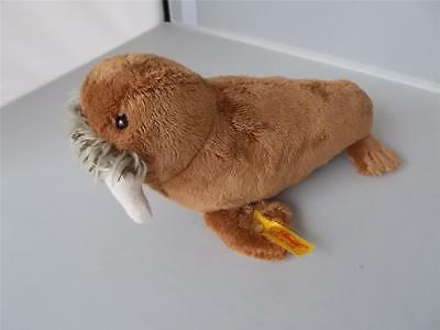 Vintage STEIFF Walrus With Button & Label Good Condition Plush Soft Toy