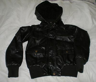 Leather look 'Hooch' bomber jacket Size 10-11 years (SS33)