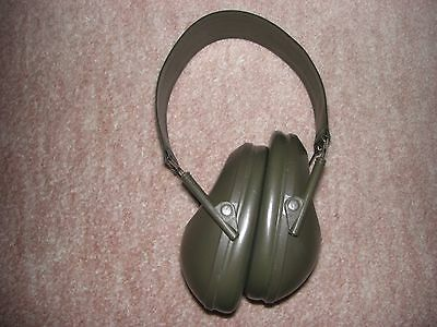 Ear Defenders Genuine British Army Issue Olive Green