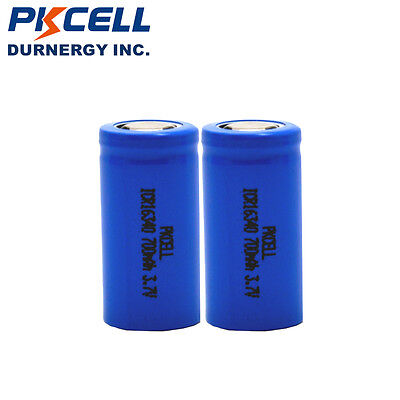 2pcs ICR 16340 3.7V 700mAh Rechargeable Lithium Batteries RCR123A Li-ion Battery