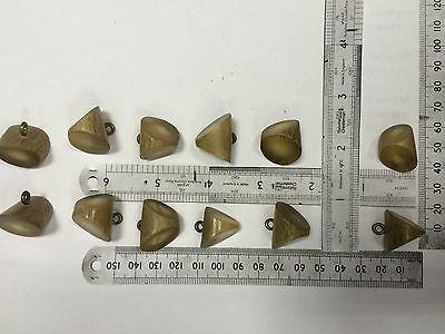 10 Genuine Horn Buttons  approx 20mm