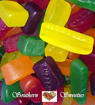 1Kg Wine Gums Yellow Red Green Orange Purple Mix Lollies Gummy Gummies Candy