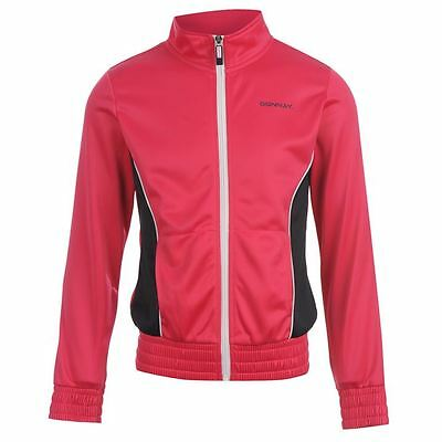 Donnay Poly Jacket Kids Girls Hot Pink/Navy/White 7-8 Years