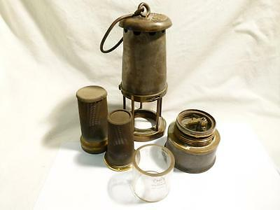 Antique Metal Brass and Steel Miner's Lamp Un-named No.15