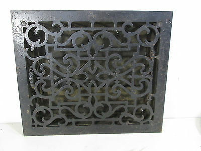 Vintage Cast Iron Floor Grate w/Damper Scroll Pattern  ASG#17