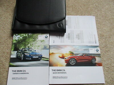 Bmw Z4 E89 Owners  Handbook Manuals & Wallet  Superb Condition Fast
