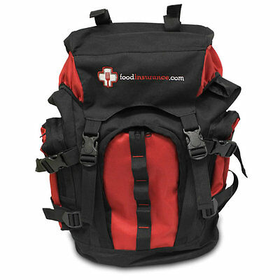 Food Insurance Emergency Backpack With 5-7 Day Food Supply + Filtration Bottle.