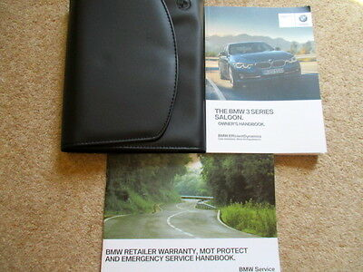 Bmw 3 Series Owners Manual Book Pack & Wallet  2012 Onwards Fast Post