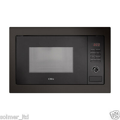 CDA VM130BL Integrated Built in Microwave Oven in Black - 11750