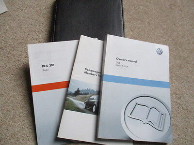 Vw Golf Mk6 Owners Handbook Manuals Inc Audio & Wallet 2009 To 2012 Fast Post