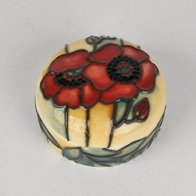 """Guenuine Collectible Yellow Poppy 3"""" Box - Old Tupton Ware Tube Lined Ceramics"""