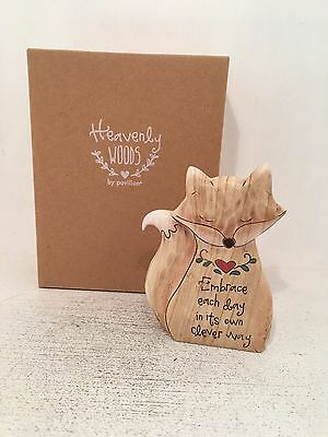 Heavenly Woods - Fox Embrace The Day Figurine Ornament BRAND NEW BOXED
