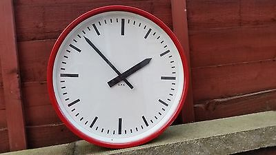 Genuine Post Office Clock Original GPO PO painted post office red