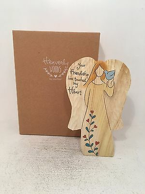 Heavenly Woods Angel Friendship Touched Heart Figurine Ornament BRAND NEW BOXED