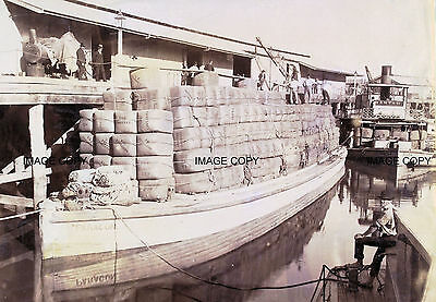 Wool Barge Paracon, Murray River 1890s Victoria Australia