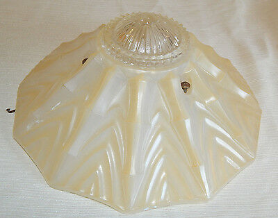 Antique Art Nouveau Art Deco Glass Ceiling Light Fixture Shade