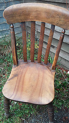 ANTIQUE WOODEN DINING CHAIR 100 YRS OLD LOVELY COLOUR AND FINISH AND COMFY 2of 2