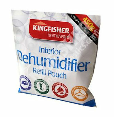 Universal Interior Dehumidifier Refill Pouch 450g Mould Mildew Damp Absorber