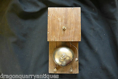 Large Quirky Restored Antique Wood & Brass Electric Door bell 24v - Steampunk