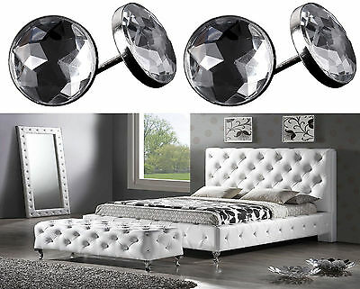 Diamante Crystal Glass Button Nail Back Upholstery Sofa Headboard Chair 22mm UK