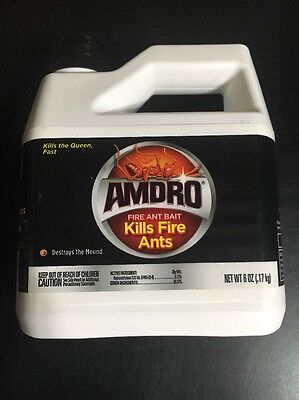 AMDRO FIRE ANT BAIT KILLS FIRE ANTS 6oz EACH FREE SHIPPING
