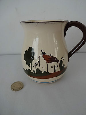 """Vintage Motto Ware Babbacombe Pottery- Jug-""""ill blows the wind that profits nobo"""