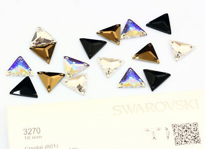Genuine SWAROVSKI 3270 Triangle Flat Sew-On Stones Crystals * Many Colors