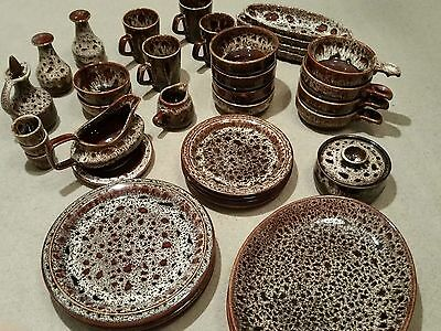 Fosters South West Cornwall Brown Honeycomb Pottery Dining Set