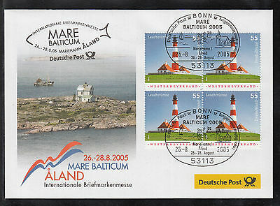 A 38 ) Germany beautiful Messe Cover 2005  Aland / Mare Balticum / Lighthouses