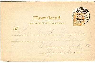 NORWAY cover postmarked Kristiania, 6 Feb. 1901 to Hersted