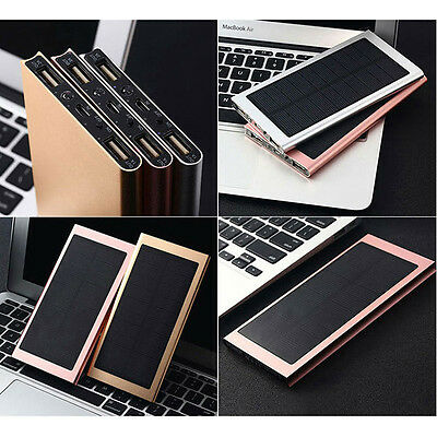 300000mAh Dual USB External Solar Power Bank Battery Charger for iPhone 6 7 7s