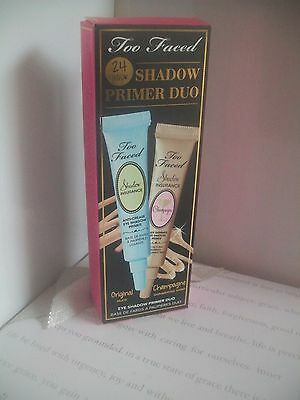 Too Faced 24hr eye shadow primer duo new & boxed both 5g in size