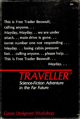 Traveller 1St Edition Sci-Fi Role Playing Game In Box, Books 1,2,3