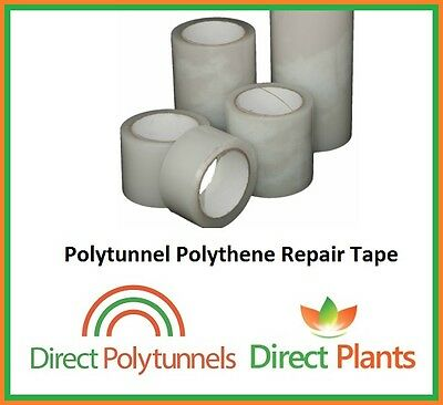 EXTRA STRONG HEAVY DUTY PROFESSIONAL POLYTUNNEL REPAIR TAPE - 100mm X 25M
