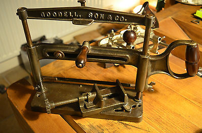 Miter Hack Saw Goodell Son & Co Antique