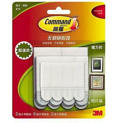 20strips 3M Command Damage-Free Picture & Frame Hanging Strips Value Pack