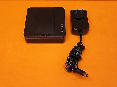 Cisco SPA112 2-Port VoIP Phone Adapter Tested/Working